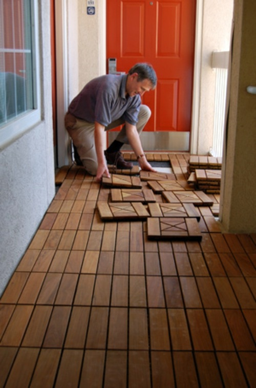Lay Patio And Balcony With Wooden Tiles