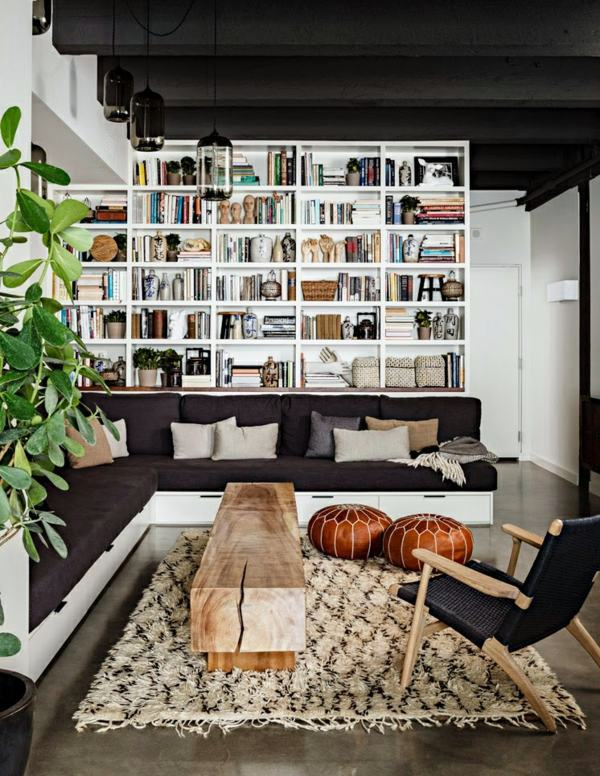 Mobiliar - Bookshelves wood - inspiring ideas for a great home library