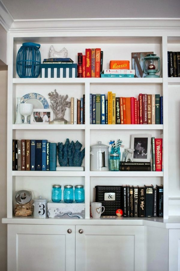 Bookshelves wood - inspiring ideas for a great home library