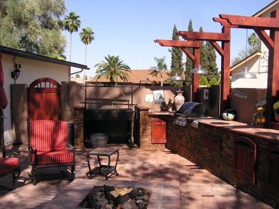 Garden Decoration Ideas - modern, rustic backyard design