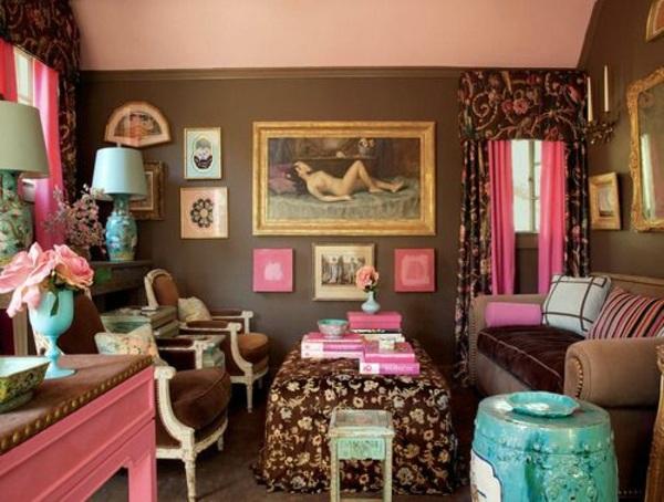 Wandgestaltung - Wall color shades of brown - earthy, natural coziness at home