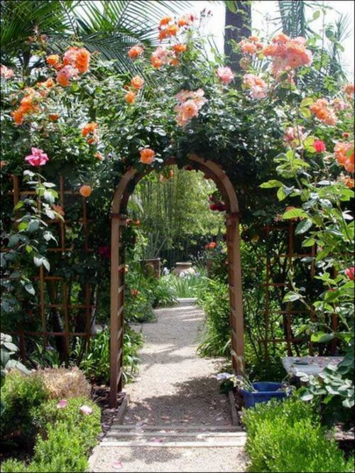 Cool Garden Design With Rose Arch Interior Design Ideas