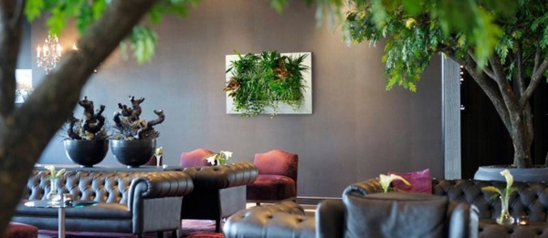 Wanddeko - Wall decoration with plants - Live Picture refreshes the air and ambience
