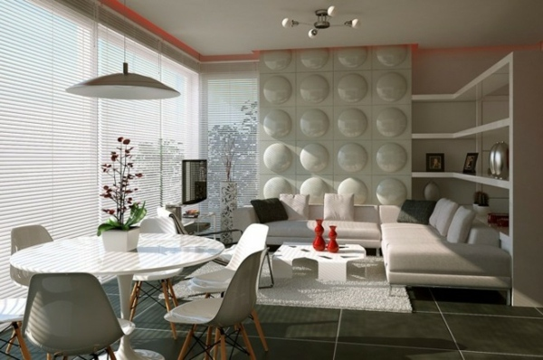 Wohnzimmer Ideen - Attractive combination of living and dining room