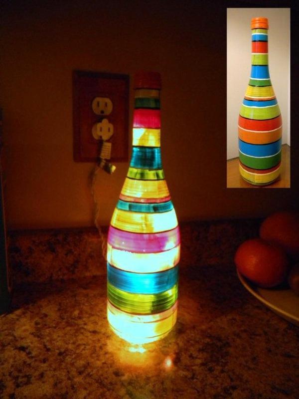 DIY Deko - DIY Lamp from Wine Bottles - creative decorating ideas