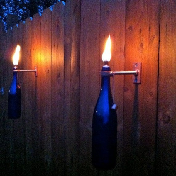 DIY Lamp from Wine Bottles - creative decorating ideas