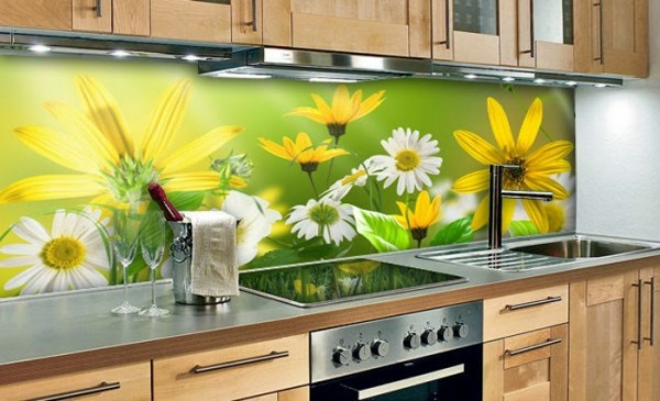 Küche - 35 kitchen splashbacks glass - luxurious splash for the kitchen