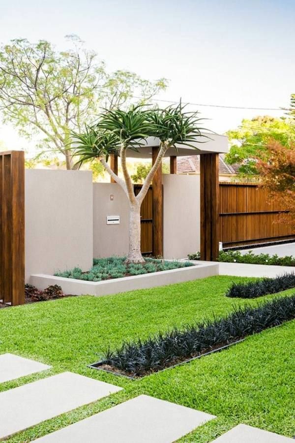How Can One Create His Front Garden Design Modern Interior