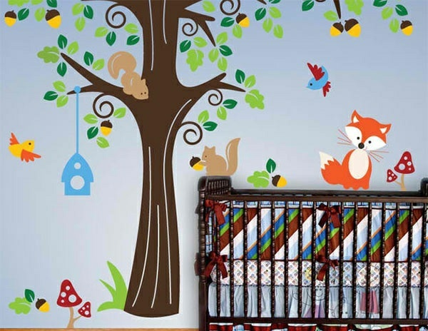 Baby Room Wall - 15 Wall Art Ideas with animals