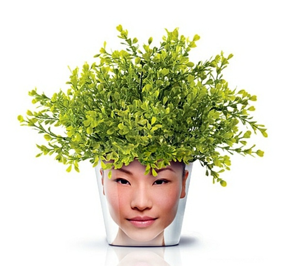 Art deco möbel - Modern Planters with Face - Funny cool decoration ideas