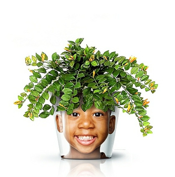 Garten & Pflanzen - Modern Planters with Face - Funny cool decoration ideas