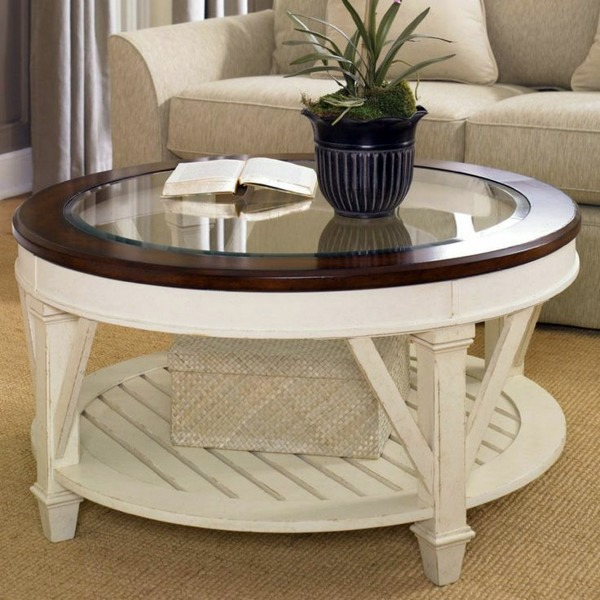 Round coffee table - the eye-catcher in your living room ...