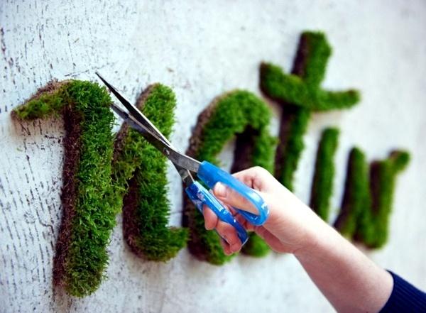 """Wanddeko - Create moss graffiti and host a """"green"""" message"""