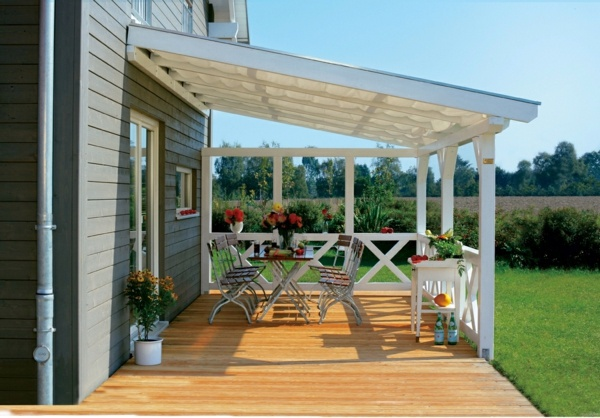 If the terrace extends the living space - the roof terrace of wood