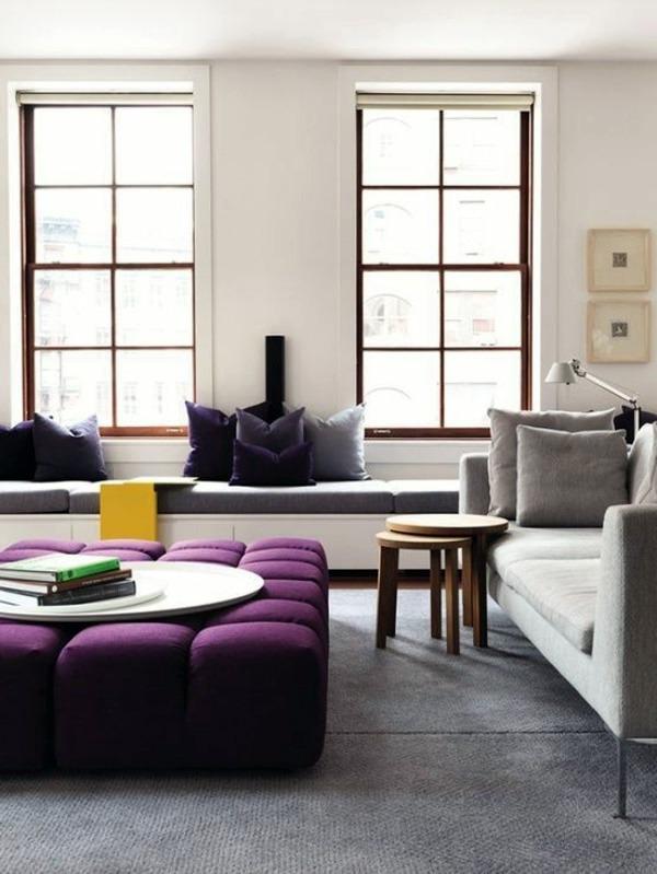 Einrichtungsideen - Interior Design Ideas - The violet color in the interior