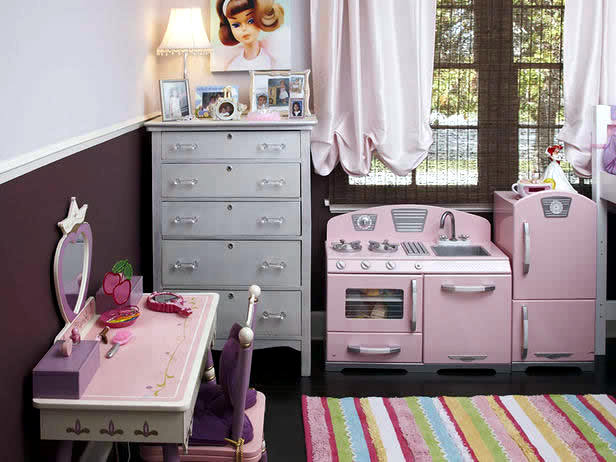 Kinderzimmer - Color combination in the girls room: With Pink and Brown Setup