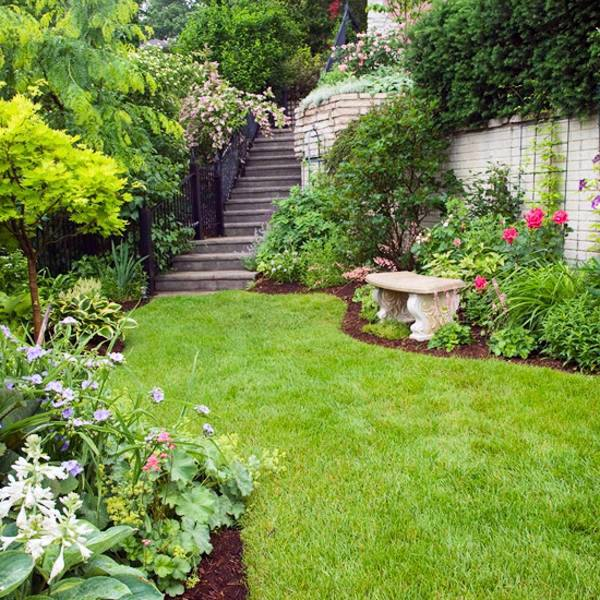 Landscaping on a slope - How to make a beautiful hillside ... on Sloped Yard Landscaping Ideas id=70869