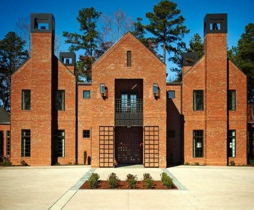 Architektur - Family, Fundraising and familiar house design - modern residence of brick