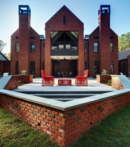 Family, Fundraising and familiar house design - modern residence of brick