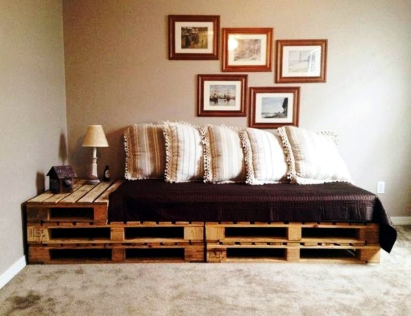 Sofas - Sofa from pallets integrate - DIY furniture is practical and original