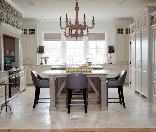 Furnished French country-style kitchens design | Interior ...