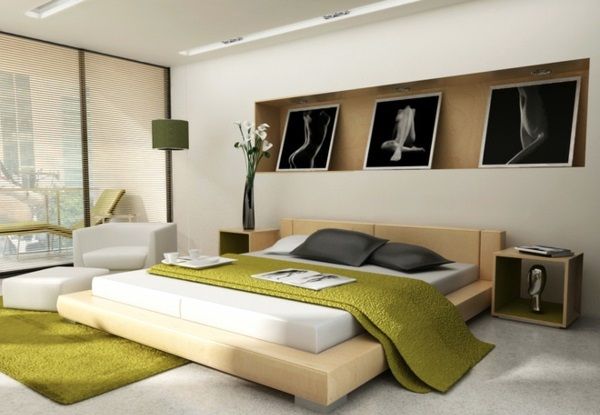 Bedroom wall design - wall decoration behind the bed