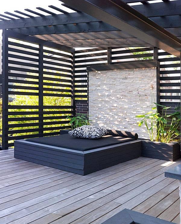 Balkonpflanzen - Modern terrace design - cool lounge furniture outdoor