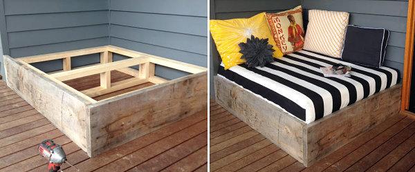 Modern terrace design - cool lounge furniture outdoor