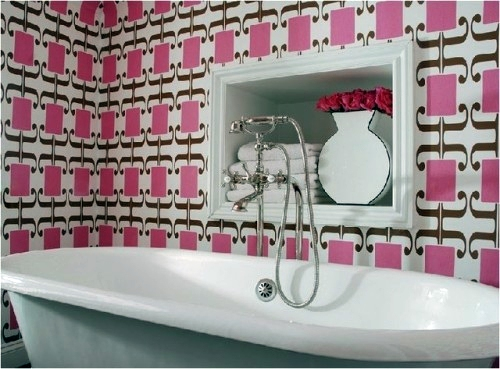 21 unusual ideas wallpaper in the bathroom - stylish and ...
