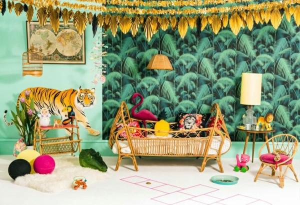 Kinderzimmer gestalten - Jungle Kids wallpaper - We make children