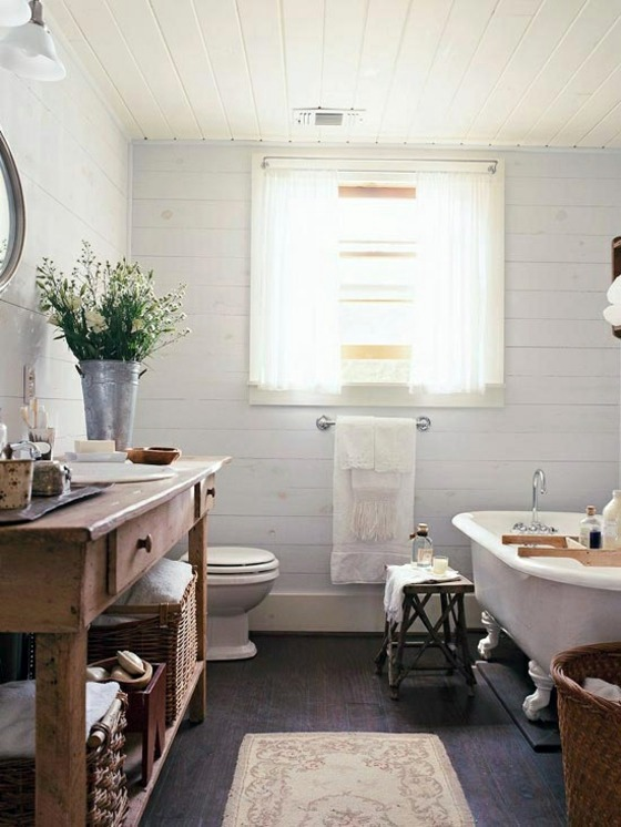 Badeinrichtung Rustic Bathroom Ideas Would You Set Up Your In A Country Style
