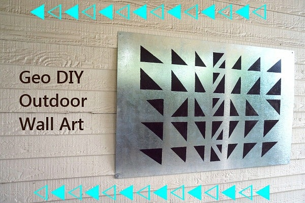 Outdoor Wall Decoration Do It Yourself Diy Projects Geometric