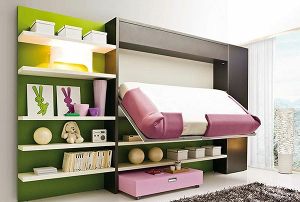 Wall Cabinet With Folding Bed Living
