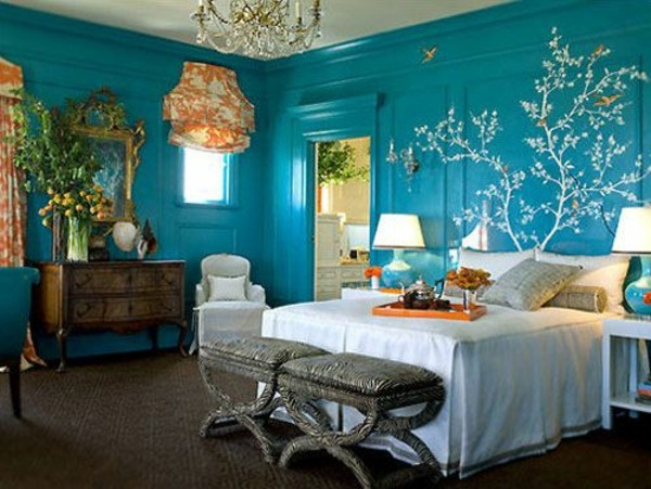 Wandgestaltung - Wall color lagoon - you feel the sea breeze and the home