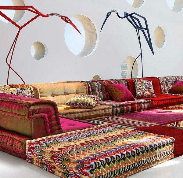Sofas - Bohemian Living: Roche Bobois' Modular sofa