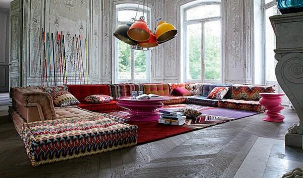 Bohemian Living: Roche Bobois' Modular sofa