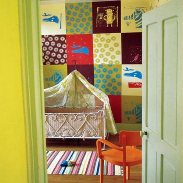 35 great ideas for patchwork wall decoration