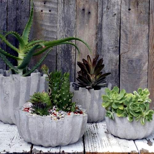 Selber machen - DIY flower pots made of concrete - 12 great projects for growers outside
