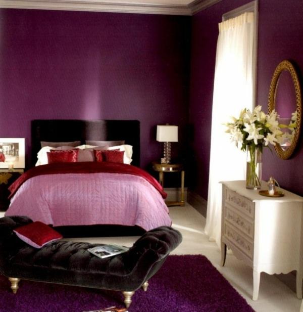 Luxury purple bedroom