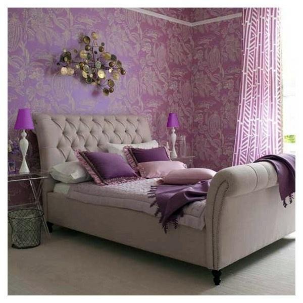 Schlafzimmer Ideen - Luxury purple bedroom