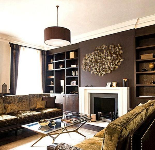Wandfarbe - Wall color brown tones - warm and natural