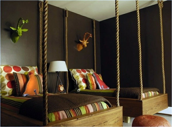 Wall color brown tones - warm and natural