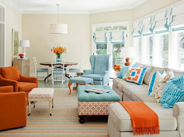 Wandfarbe - 30 cool ideas for living color combination - Hot trend colors 2014