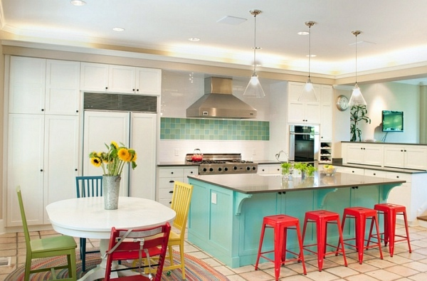 30 cool ideas for living color combination - Hot trend colors 2014
