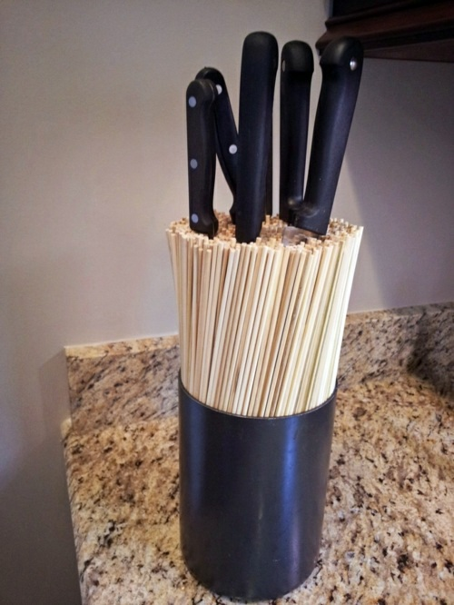 Küche - Knife Block for Kitchen Knives - Arrange your knife set with style on!