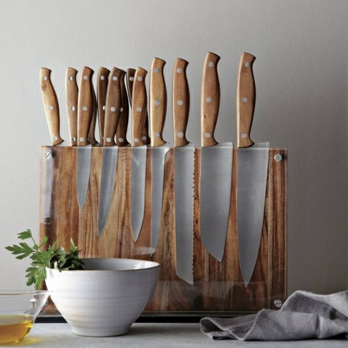Wohnideen - Knife Block for Kitchen Knives - Arrange your knife set with style on!
