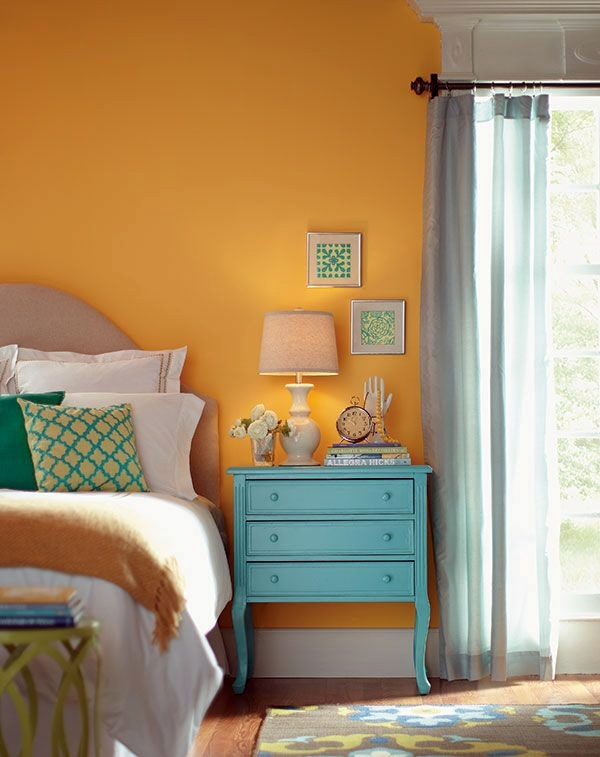 Schlafzimmer - Bedroom color ideas for a moody atmosphere