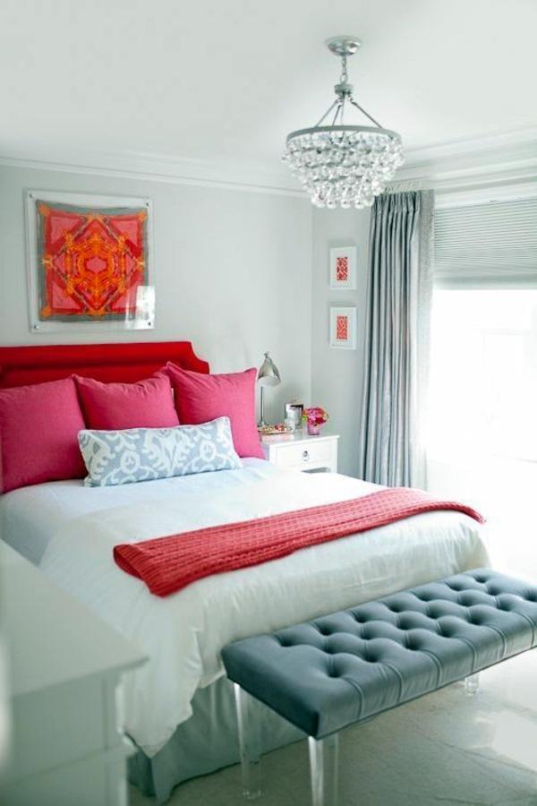 Pink gray bedroom