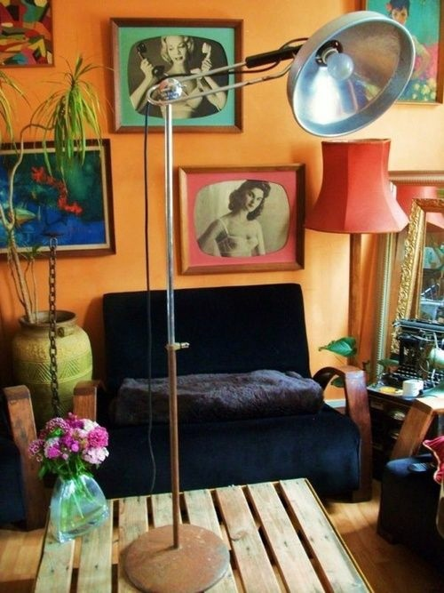 Wohnzimmer Ideen - Living room design ideas in retro style - 30 examples as inspiration