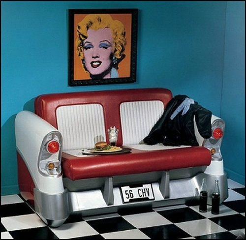 Living room design ideas in retro style - 30 examples as inspiration
